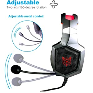 headset with adjustable mic