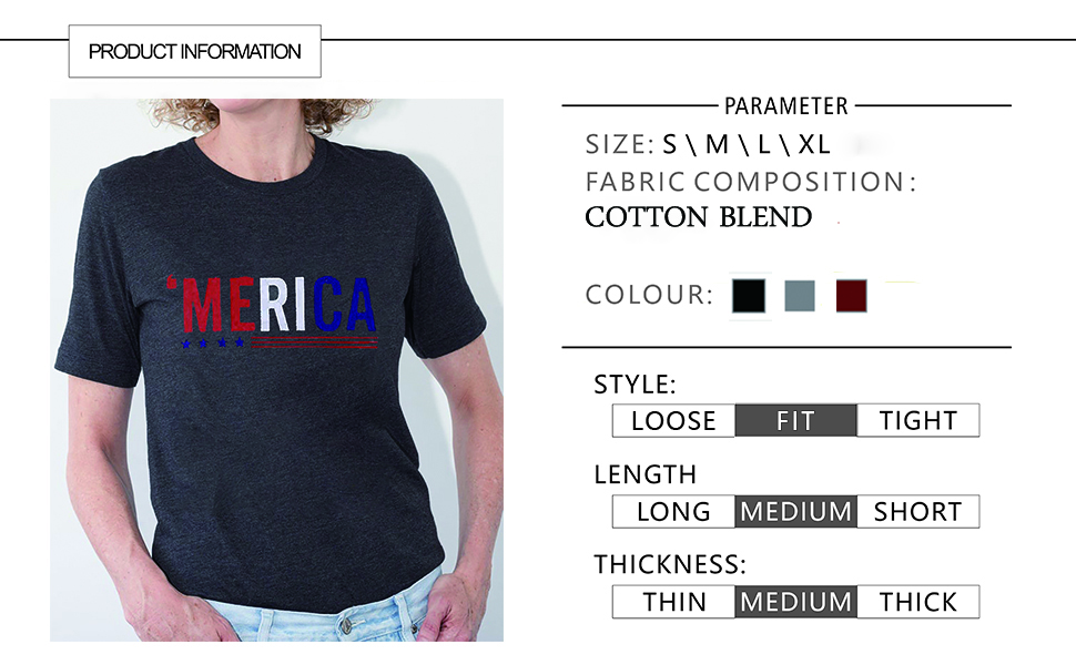 Women 4th of July USA Flag Patriotic Tee Shirts Short Sleeve Letter Printed Graphic T Shirts Top