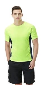 Swimwear short sleeve top UV protection UPF 50+ quick-dry rash guard
