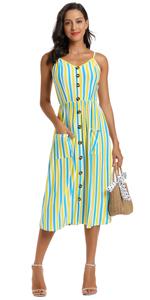 stripe dresses for women multi color