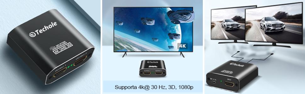 Sdoppiatore HDMI Supporto 3D UHD 1080p HDCP