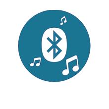 Bluetooth Lautsprecher für Spiegel um über Geräte Musik oder Radio abzuspielen