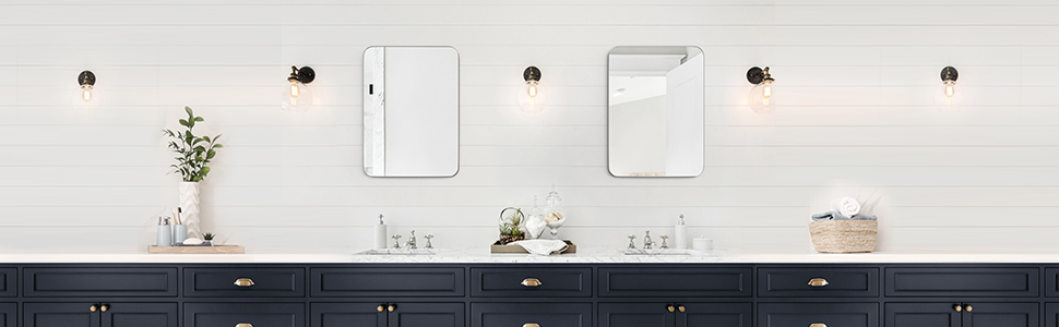 mirror for horizontal leaning easy installation durable construction