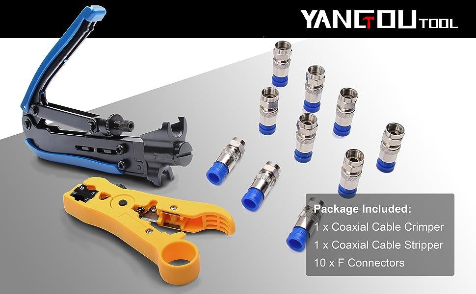 F connector set