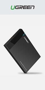 """UGREEN USB Hard Drive Enclosure for 2.5"""" SATA SSD HDD"""