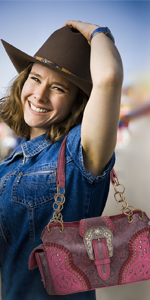 Montana West Western Buckle Satchel Handbag Concealed Carry For Women