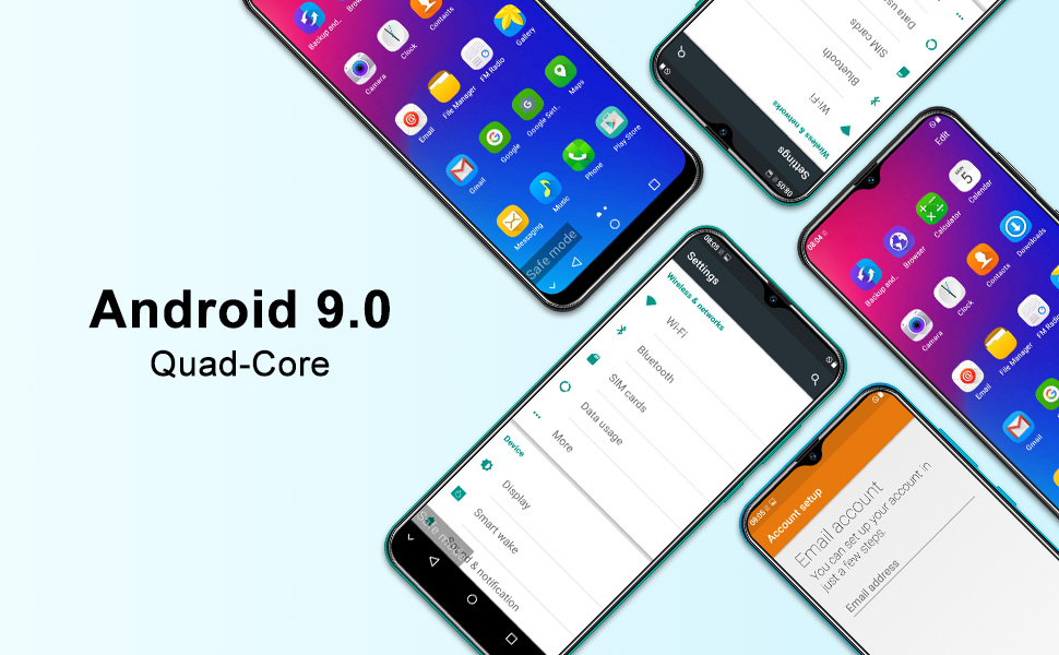 "green mobile phone dual sim mobile phones cheap smartphones sim free unlocked android 9"" phone xgody"