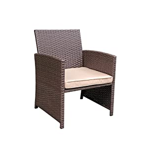 joivi 3 pieces patio chair sets outdoor wicker patio garden furniture sets modern bistro set rattan chair with storage side table conversation sets