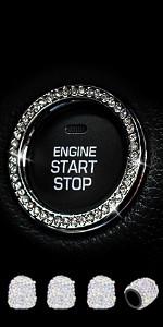Silver Engine Start Stop Ringamp;Valve Stem Caps