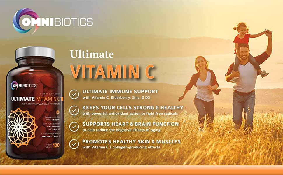 Ultimate Vitamin C with Zinc, Vitamin D3, Elderberry