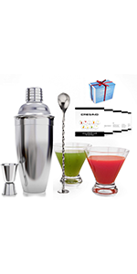 cocktail shaker drink mixer martini shaker and strainer bar set mixed mix margarita alcohol cobbler
