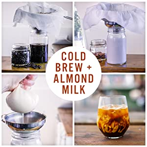 cold brew coffee almond milk maker nut bag filter strainer reusable organic safe food certified