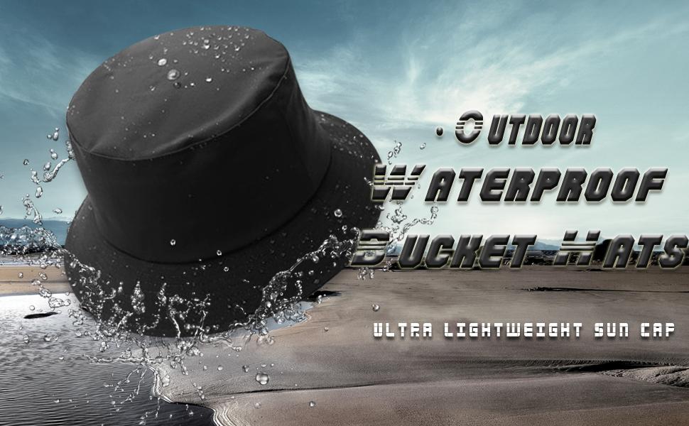 waterproof bucket hat men rain cap outdoor sun hats rainproof fisherman cap
