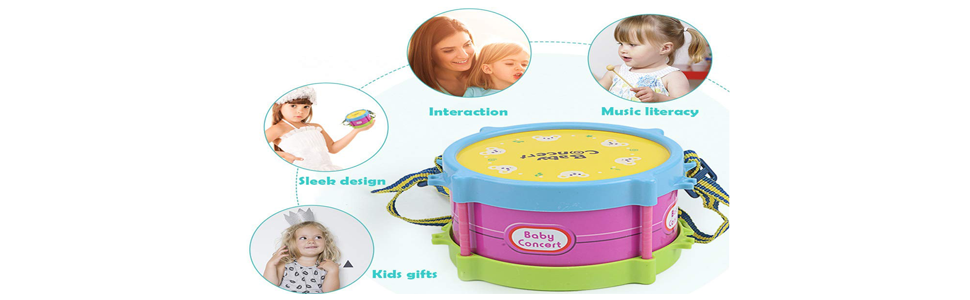 BOLOMI Baby Musical Toys Drum