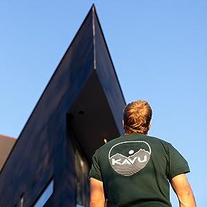 KAVU Klear Above Etch Art Cotton Graphic T Shirt - Summer Beach Mountains Tee