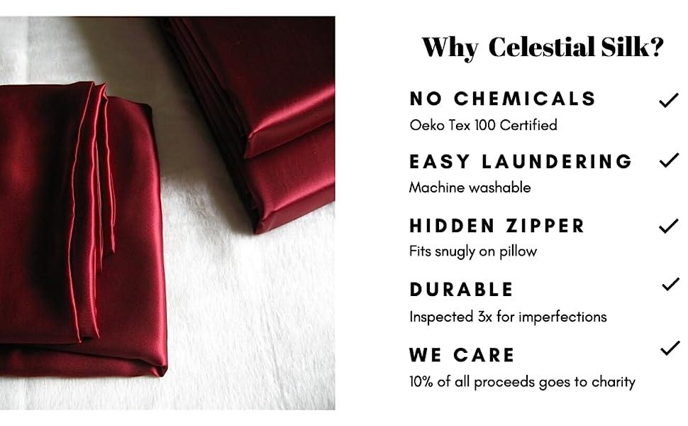 25 mm silk pillowcase