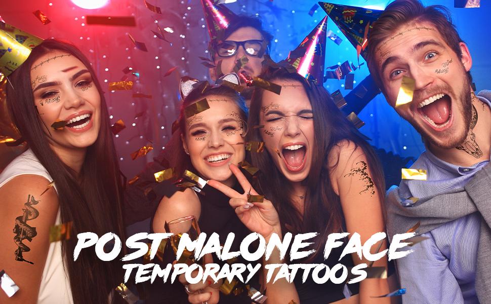 post malone temporary tattoos