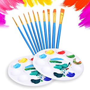 paint tray brushes for kids