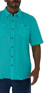 front pockets line shirt for men