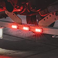 """2.5"""" Clearance Marker Light Red"""