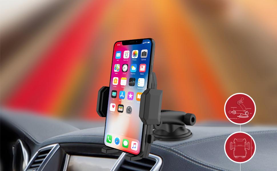 Foldable Windshield Car Mobile Phone Holder
