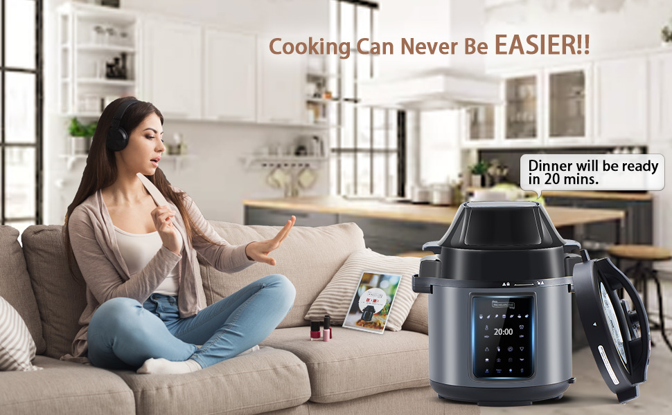 Amazon.com: MICHELANGELO 6.5 QT Pressure Cooker Air Fryer