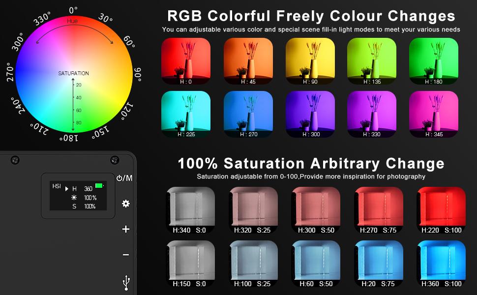 RGB Camera Led Light