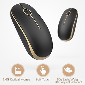 wireless mouse  Jelly Comb 2.4G Slim Wireless Mouse with Nano Receiver MS001 (Black and Gold) 6f4e78ea 7d67 4427 8fc5 2a6a5ccb1361