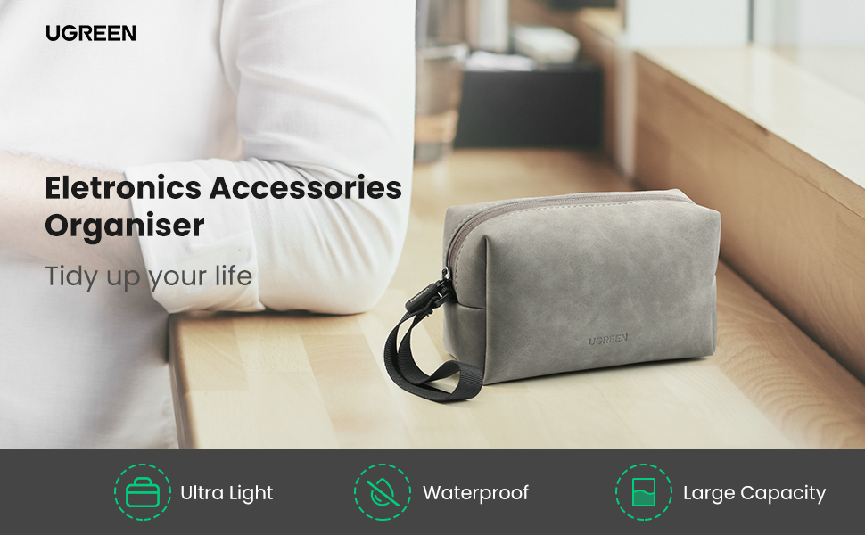 electronics bag organizer make up set for travel hard drives cables power bank chargers