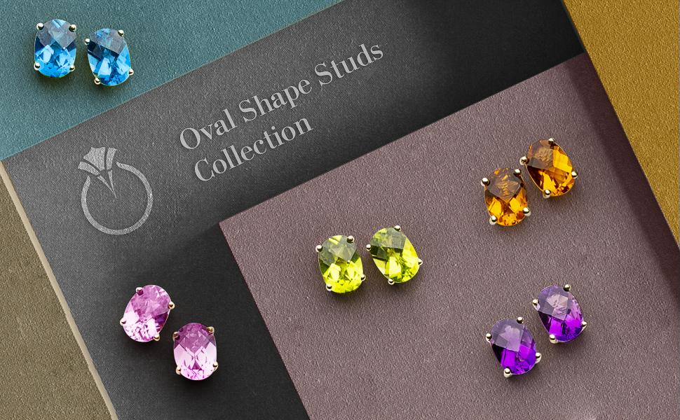 Beautiful Gift For Her Gemstone Elegant Earrings Natural Emerald 10x7mm 925 Sterling Silver Push Back Stud Earrings Jewelry