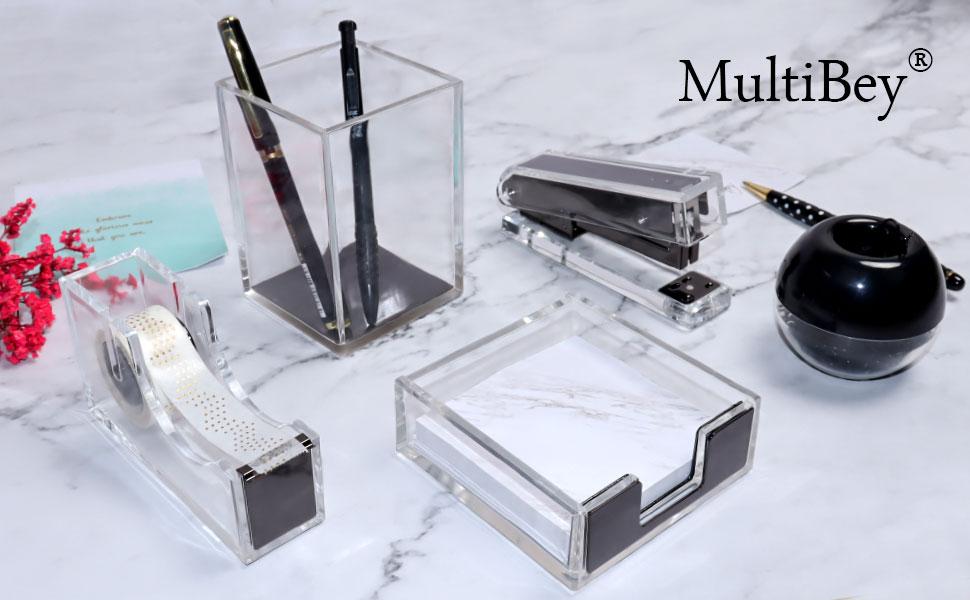 clear black acrylic desk set for men women desk organizer