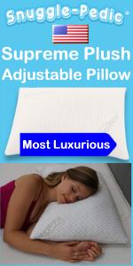 down alternative shredded memory foam pillow luxury hypoallergenic plush stomach back & side sleeper