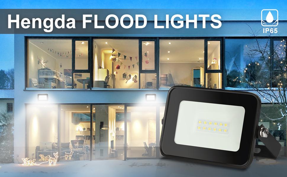 10W Tageslichtwei/ß Superhell LED Fluter Hengda LED Strahler IP65 Wasserdicht 850LM LED Aussenstrahler Flutlicht f/ür Garten Garage Sportplatz usw
