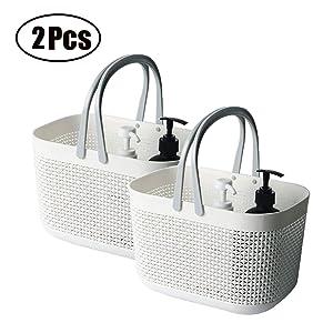 organizing baskets white