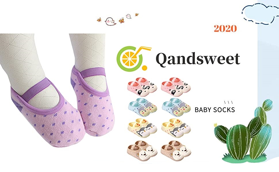 Baby Newborn Infant Cotton Boy Girl Toddler Asymmetry Anti-Slip Floor Socks T xb