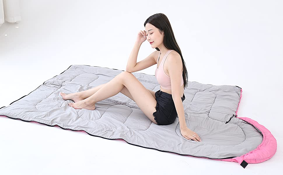 Sleeping bag can Sleeping bag can be openedbe expanded