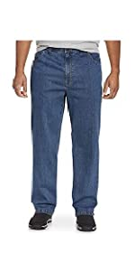 Harbor Bay by DXL Big and Tall Continuous Comfort Stretch Jeans,