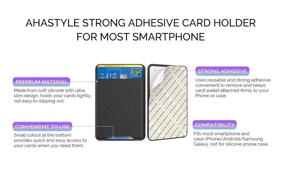 Slim Cell Phone ID Card Holder
