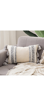 tribal boho woven tufted pillowcase with tassels super soft pillow sham pillowcase cushion case