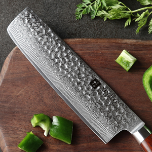 Made by 67-layer high-carbon Damascus steel with corrosion and rust resistance