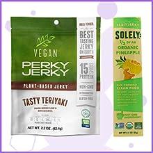 Solely Pineapple, Vegan Perky Jerky Teriyaki