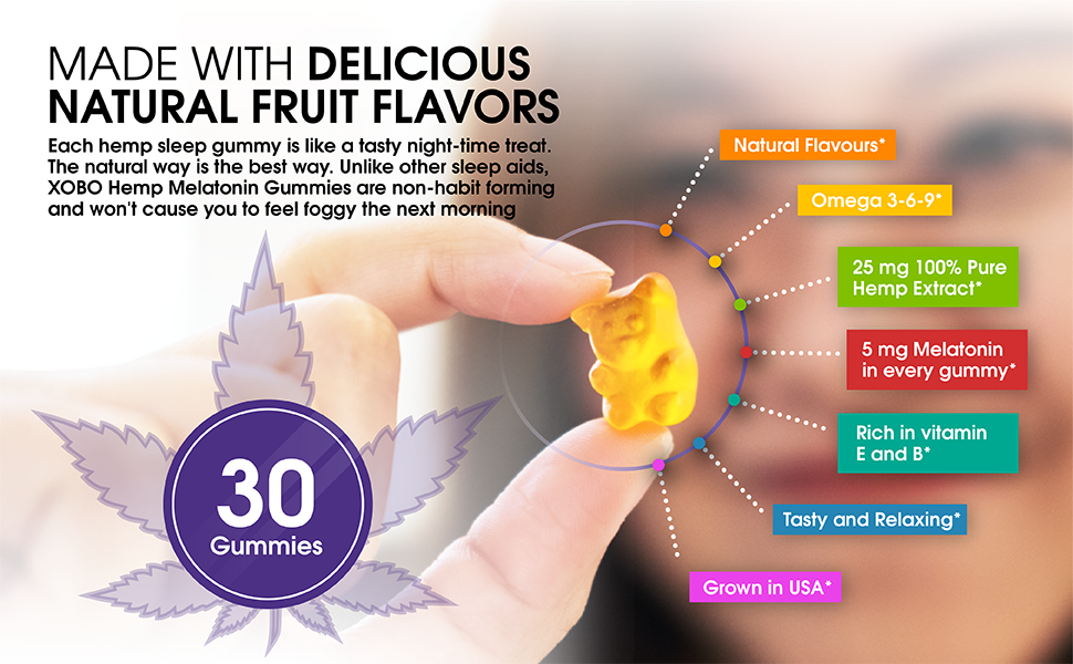 Made with delicious natural fruit flavors