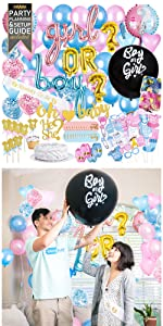 PRIMEPURE Gender Reveal Decorations Kit