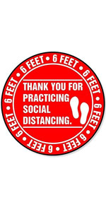 """Thank You for Practicing Social Distancing - 8"""" Round"""