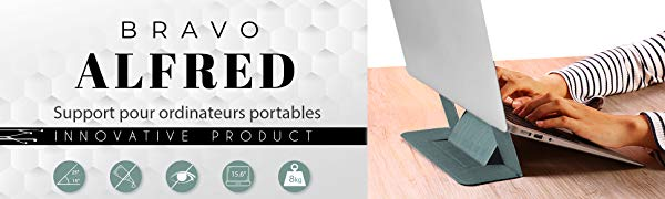 BRAVO ALFRED Soporte portatil Innovador para Ordenador portátiles ...