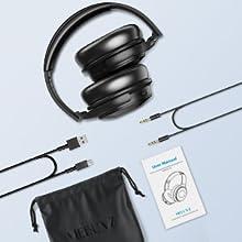 Bluetooth Headphones Immersive Audio Wireless Over Ear Headphones Microphone Built-in Gyroscope