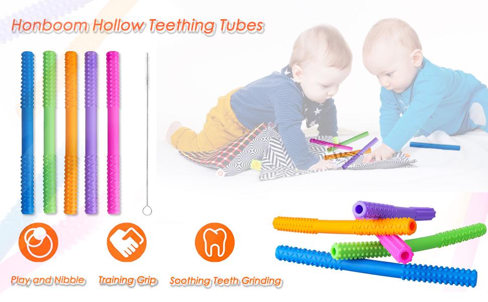 Honboom Hollow Teething Tubes