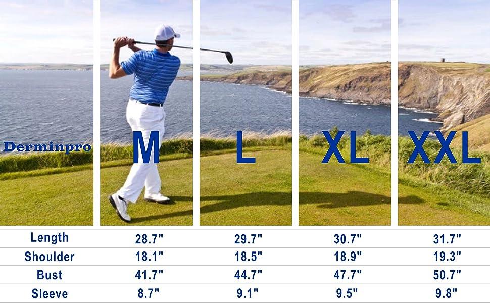 size chart polo shirt golf running t shirt for men stretchy shirt