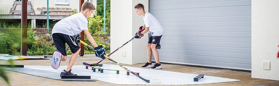 "Hockey Revolution Off Ice Shooting Board MY SHOOT Pad 30/"" x 60/"" /& Passer"