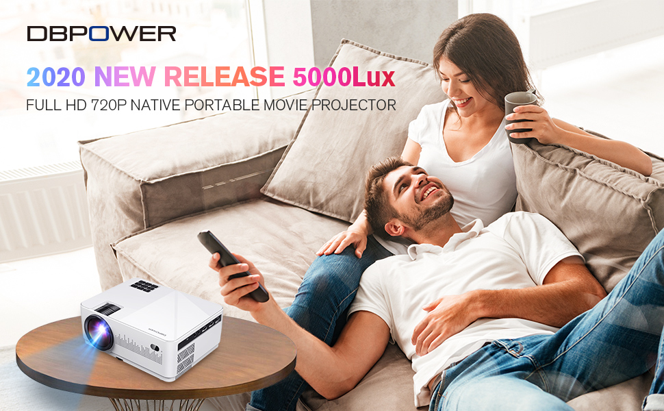 DBPOWER L21 mini LCD video projector - ValueLink Shop